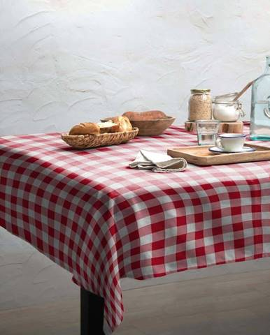 Ubrus Linen Couture Red Vichy, 140 x 200 cm